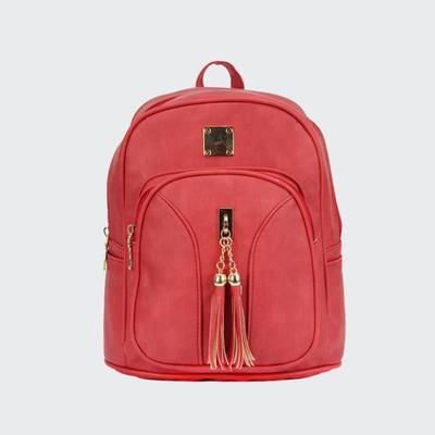 Hot Sale New PU Woman Backpack Good Quality Cheap Price Lady Fashion Backpack With Tassel