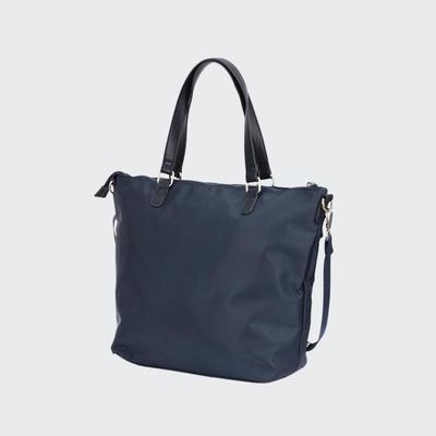 Fashion Fabric Women Popular Simple Handbag New Design Lady Leisure Hand bag  With Long PU Chain