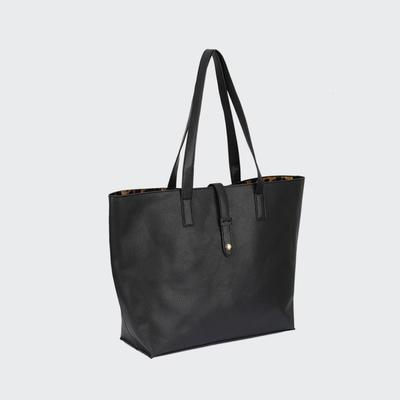 Stylish And Simple Lady Big Size Handbag New Women Shopping PU Bag