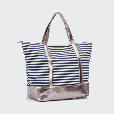 Good Quality Pu And Jean Lady Beach Bag New Style Women Bag