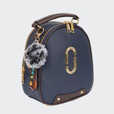 Newest Fashion Mini Pu Lady Cross Body Bag Two Zipper Women Mini Backpacks
